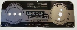 Lincoln Electric Arc Welders SA 200 163 Black Face Plate M 10926 New