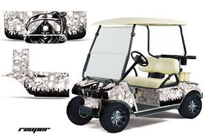 Club Car Golf Cart Parts Graphic Kit Wrap AMR Racing Decals Accessories Reaper W
