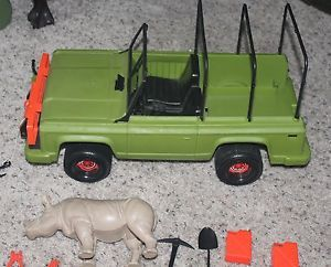 1974 Mattel Big Jim Jungle Safari Truck Rhino Lots Parts Accessories Net No Box