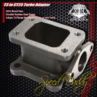 Universal T3 CT25 Turbo Charger Manifold Flange Adapter 38mm Wastegate WG Cast
