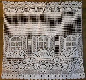 Dinky Windows Motif Drape French Lace Curtain Lace Panel Window Treatment