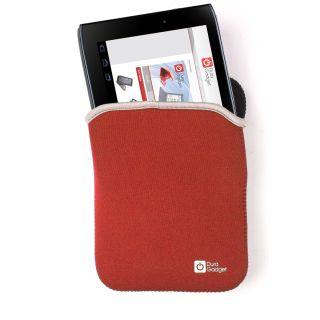 Housse Étui Pour Acer Iconia Tab A100 Réversible Néoprène Rouge Noir Léger