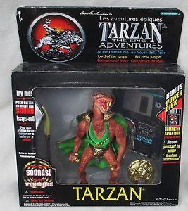 """Tarzan"" TV Series ""Horbid"" Electronic 6"" Action Figure w Net Link 1995"