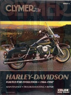 Harley Davidson FLH Flt FXR 1984 1998 Clymer Service Repair Manual Book New