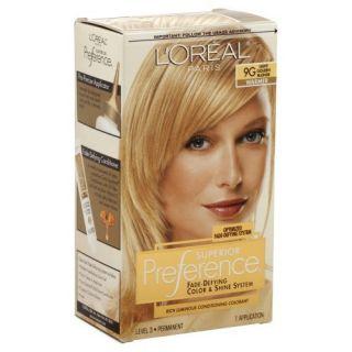Loreal Preference Hair Color 9g Light Golden Blonde