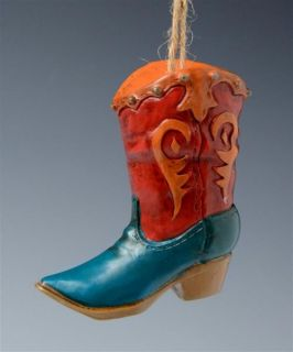 Country Western Theme Cowgirl Boot Shoe Lovers Christmas Ornament New