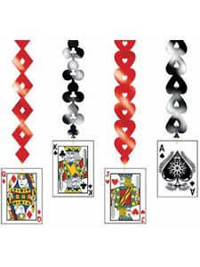 Las Vegas Casino Themed Party Hanging Card Decorations