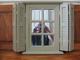 Homco Home Interiors Decorative Window Pain Mirror with Shutters