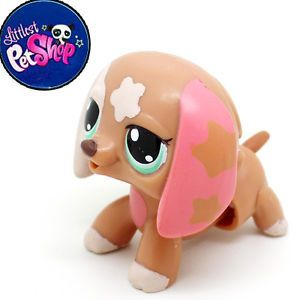 Littlest Pet Shop LPS Brown Dachshund RARE Dog Free Shiooing Figures Toy 2169