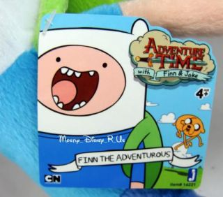 """Adventure Time with Finn and Jake Finn The Adventurous Plush Toy Doll 10"""" New"""