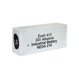 Exell 413A Alkaline 30V Battery Neda 210 20F20 BLR123 ER413
