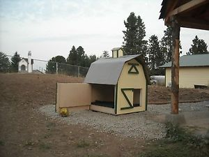 Dog House Plans Barn Style 3'x3' for Medium Size Dog
