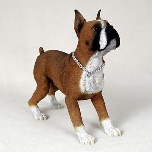 Boxer Statue Figure Home Yard Garden Decor Dog Breed Pet Products Dog Gifts