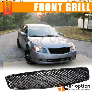 05 06 Nissan Altima ABS Black Front Upper Hood Mesh Grille Grill