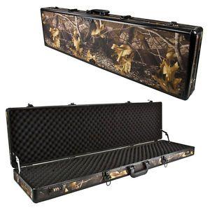 Camo Hunting Aluminum Carrying Case Rifle Gun Dual Combination Lock Security