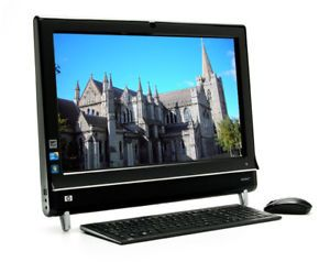 "HP TouchSmart 600 1350 All in One PC 23"" i3 2 4GHz 4GB 1TB W7HP TV Tuner Remote"