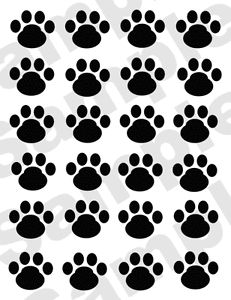 Puppy Dog Paw Prints Puppies Black Blue Brown Baby Nursery Wall Stickers Decals