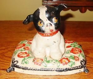 Fido Antique Vintage Cast Iron Dog Door Stop Doorstop 14305