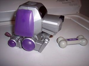 Tiger Electronics Sega POO Chi Robot Puppy Dog Toy 2000 Tested w Bone