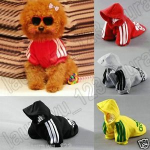 New Pet Puppy Dog Cat Coat Clothes Hoodie Sweater T Shirt Free Shipping