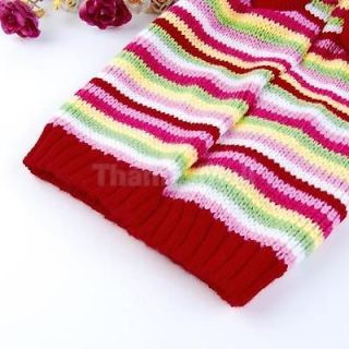 Pet Dog Puppy Doggie Hooded Sweater Knit Apparel Cloth