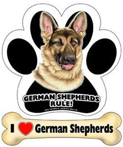 German Shepherds Rule Paw I Love German Shepherds Dog Bone Magnet Car Fridge