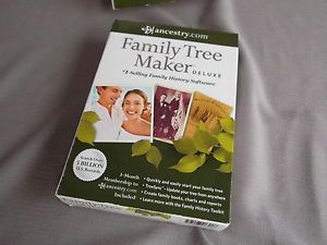 Ancestry com Family Tree Maker 2012 Deluxe Easily Syncs by Nova Development Corp
