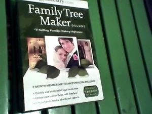 NIB Family Tree Maker 2013 Deluxe Software Free Genealogy Book CD