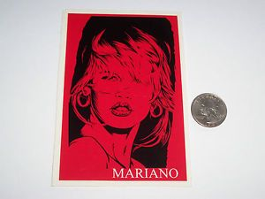 Vtg 90's Girl Guy Mariano Claudia Schiffer Skateboard Skate Sticker Sexy Anime
