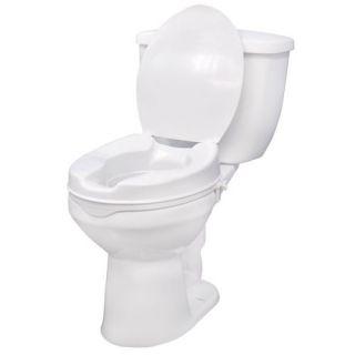 Drive 12065 Raised Elevated Toilet Seat w Lock Lid