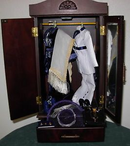 Franklin Mint Titanic Rose Doll Clothing Accessories with Armoire Wardrobe