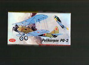1 72 Vintage KP Polikarpov Po 2 Soviet Utility Biplane Box Art Model Kit Nice