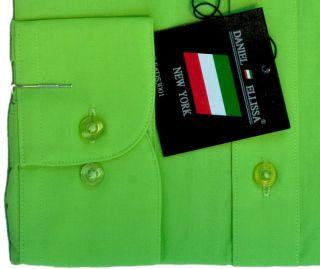 New Daniel Ellissa Mens Fashion Dress Shirt Apple Green DS3001