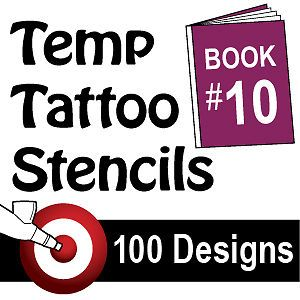 Airbrush Temporary Tattoo Stencil Art Design Set Kit 10