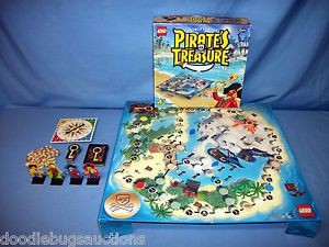 Lego Rose Art Search for The Pirate's Treasure SHIP Gold Chest Hunt Board Game