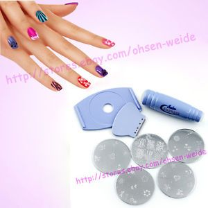 Fashion Nail Art DIY Designs Salon Express Stamping Stencil Kit New