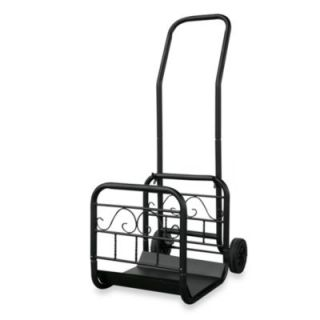UniFlame® W 1059 Black Wrought Iron Log Rack with Wheels