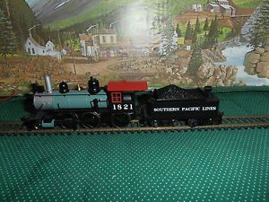 HO Scale Southern Pacific Lines Steam Engine Tender RD 1821 Nice