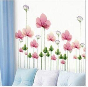 DIY Lotus Flower Decorative Wall Paper Art Sticker Big Size