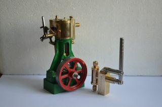 New Single Cylinder Steam Engine M8 Live Steam Engine Boiler Hand Pump 2 Sets