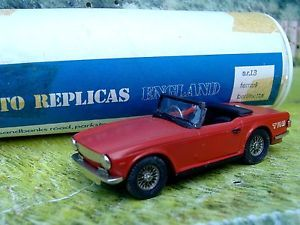 1 43 Auto Replicas England Triumph TR6 Handmade White Metal Model Car Kit