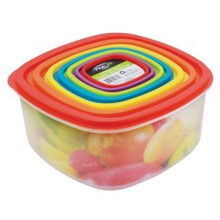Rainbow 14pcs Plastic Food Storage Container Dishwasher Safe Kitchen Organizer