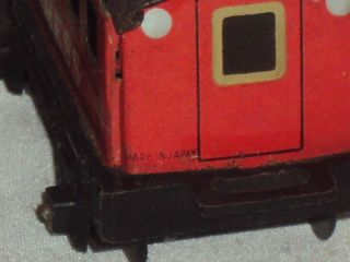 Vintage Haji Battery Operated Train Set Tinplate Toy Japan c1960s Working Cond