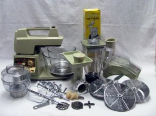 Oster White 12 Speed Regency Kitchen Center with EXTRAS