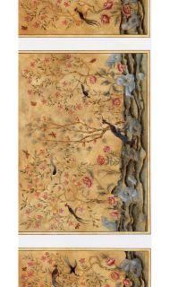 Dollhouse Miniature Chinoiserie Wallpaper Panels