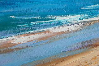 Gercken Large Beach Coastal Sand Dunes Ocean Seascape Original Oil Painting