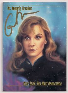 Star Trek Signed Card Auto Autograph TNG Masters Gates McFadden Dr Crusher V4