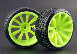 4pcs RC Hard Tires Tyre Wheel Rim Fit HSP HPI 1 10 on Road Drift Car 603 6013