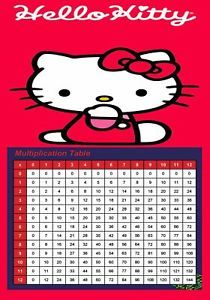 Hello Kitty Multiplication Learning Charts Party Bags