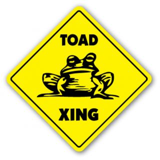 Toad Crossing Sign Xing Lovers Cage Toads Frog Gift Pet Gag Funny Joke Animal